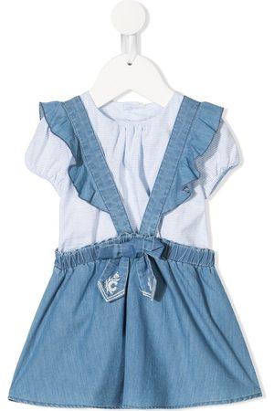 Chloé Two-piece denim pinafore dress
