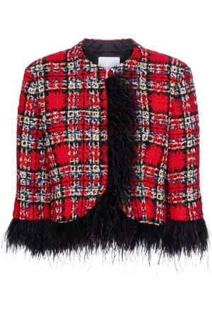 adidas Jacke aus Tweed mit Federn
