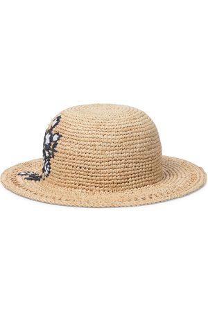 adidas Mädchen Hüte - Bestickter Hut aus Raffiabast