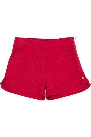 adidas Mädchen Shorts - Shorts mit Leinenanteil