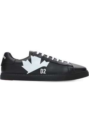 "Dsquared2 Ledersneakers Mit Druck ""new Tennis"""