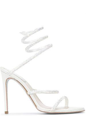 RENÉ CAOVILLA Crystal-embellished spiral sandals