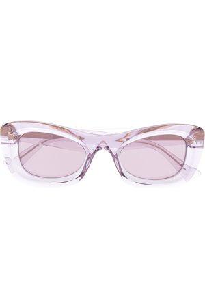 Bottega Veneta Sonnenbrillen - Transparent rectangle-frame sunglasses