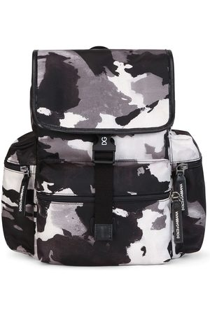 Dolce & Gabbana Camouflage-pattern buckled backpack