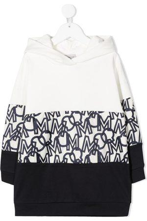 Moncler Monogram-panel hooded dress