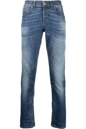 Dondup Herren Slim - Whiskered-thigh bleach-wash jeans