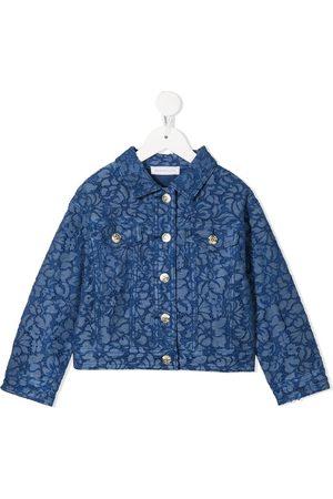 MONNALISA Denim-lace jacket