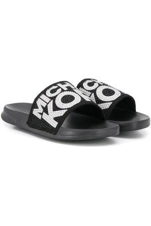 Michael Kors Embellished logo slippers