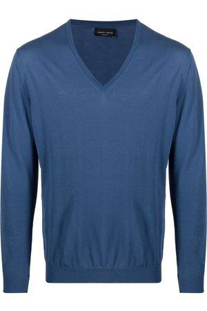 Roberto Collina V-neck cotton jumper