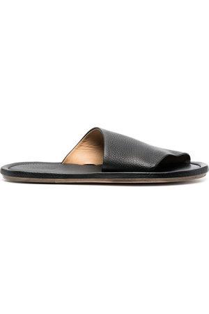 MARSÈLL Herren Sandalen - Cornice grained-leather sandals