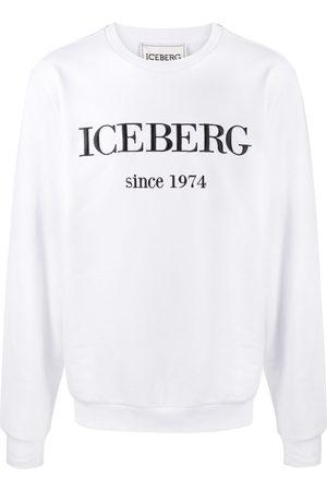 Iceberg Crew neck embroidered logo jumper