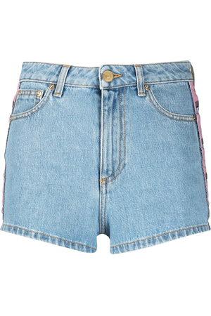 Chiara Ferragni Damen Shorts - Eye logo-tape denim shorts