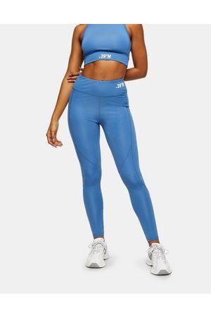 Topshop Active sports leggings in blue-Brown