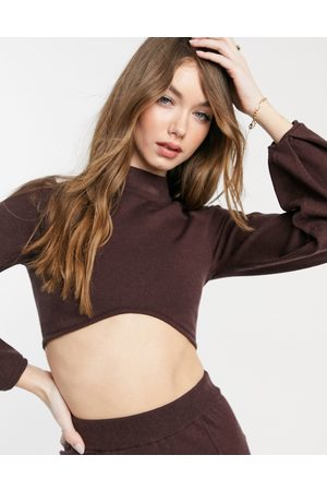 ASOS Co-ord knitted top with under bust shaping in brown