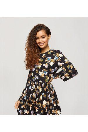 Miss Selfridge Damen Freizeitkleider - Floral print smock dress in black