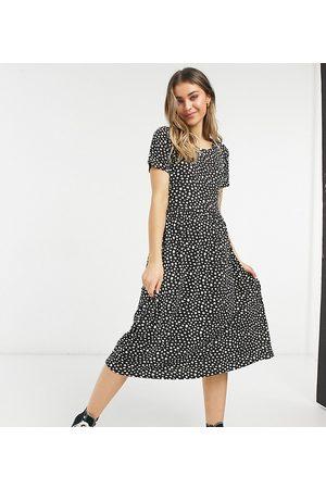 Wednesday's Girl Damen Freizeitkleider - Midi smock dress in smudge spot print