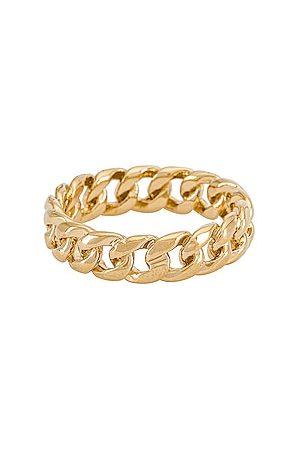 MIRANDA FRYE Rowen Ring in - Metallic . Size 5 (also in 6, 7, 8).