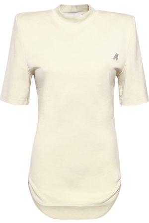 """The Attico T-shirt Aus Baumwolljersey Mit Logo """"tessa"""""""