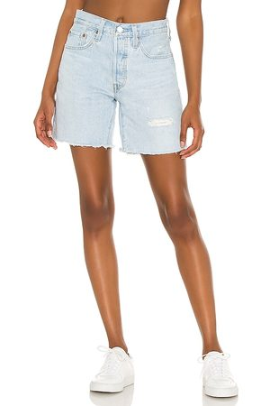 Levi's 501 Mid Thigh Short in - Blue. Size 23 (also in 24, 25, 26, 27, 28, 29, 30, 31, 32).