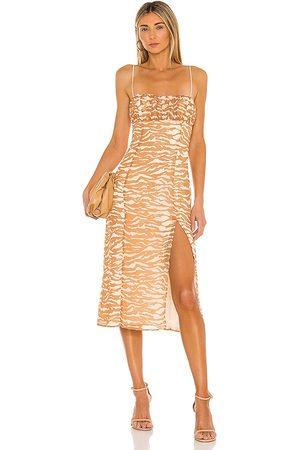 Camila Coelho Bailee Midi Dress in - Brown. Size M (also in XL).