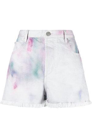 Isabel Marant Damen Shorts - Painterly-print denim shorts