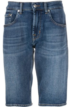 7 for all Mankind Damen Shorts - Fitted denim shorts