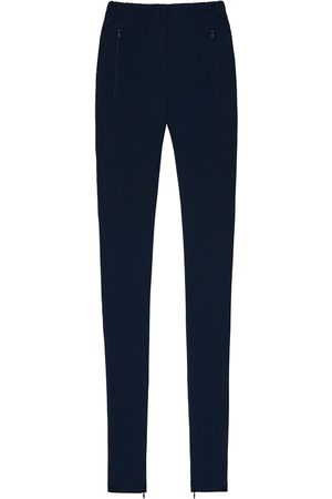 WARDROBE.NYC Damen Leggings & Treggings - High-rise ankle-zip leggings