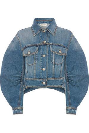 Alexander McQueen Damen Jeansjacken - Cocoon sleeve denim jacket