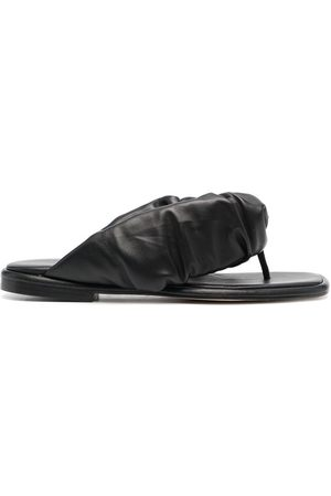 Hereu Elasticated leather slides