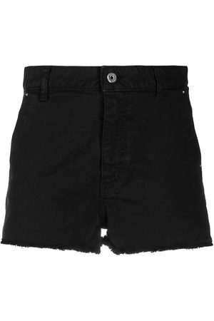 Roberto Cavalli Logo-stripe denim shorts