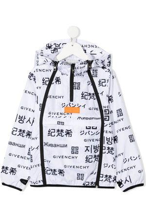 Givenchy Sommerjacken - Logo-print hooded jacket