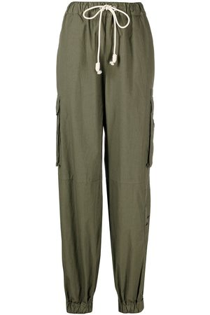 Palm Angels Drawstring cotton cargo trousers