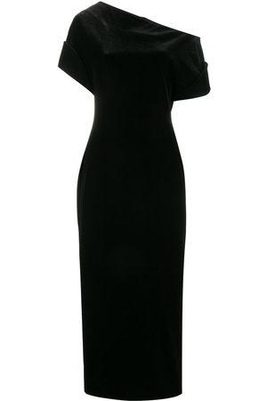 Christopher Kane Damen Asymmetrische Kleider - Stretch velvet one-shoulder dress