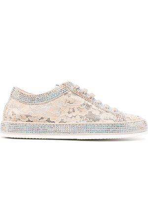 LE SILLA Claire floral lace sneakers
