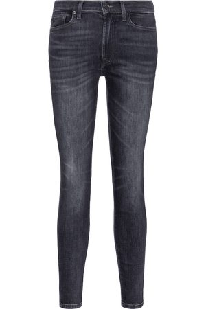 7 for all Mankind High-Rise Skinny Cropped Jeans Slim Illusion