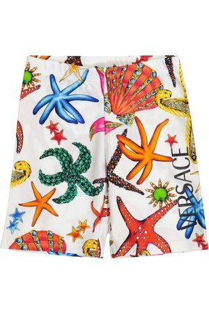VERSACE Bedruckte Shorts aus Jersey