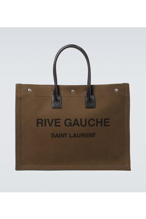Saint Laurent Tote Bag Rive Gauche aus Canvas