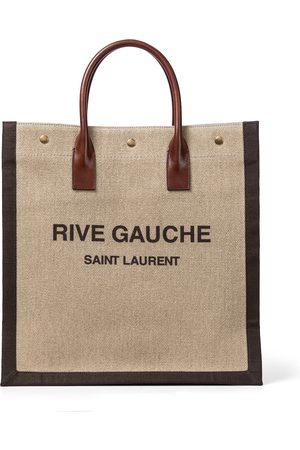 Saint Laurent Shopper Noe aus Leinen und Leder