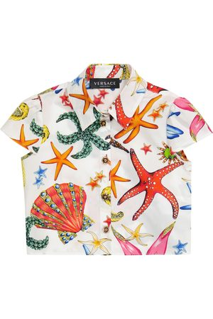 VERSACE Bedrucktes Hemd aus Baumwolle