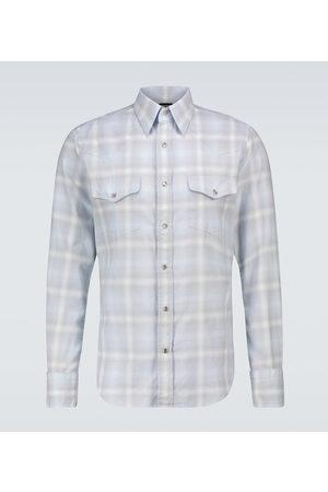 Tom Ford Kariertes Hemd aus Baumwolle