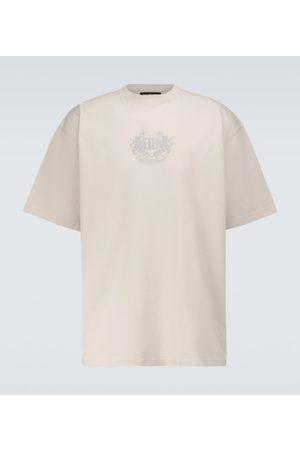 Balenciaga Herren Kurze Ärmel - Besticktes T-Shirt aus Baumwolle