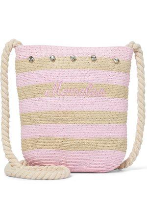 MONNALISA Verzierte Tasche aus Stroh