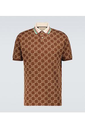 Gucci Herren Poloshirts - Poloshirt GG aus Stretch-Baumwolle