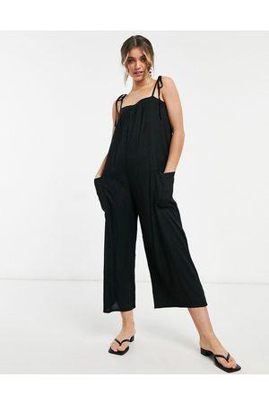 ASOS Damen Jumpsuits - ASOS DESIGN maternity cami minimal pocket jumpsuit in black