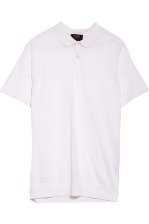 Olymp Strick-Poloshirt Aus Leinen weiss