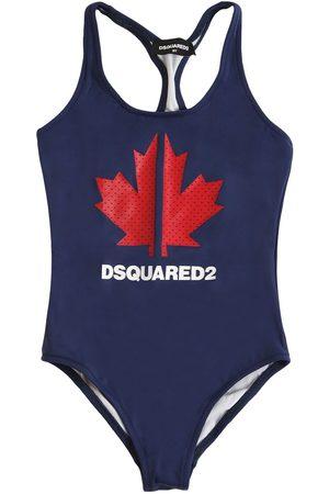 Dsquared2 Damen Badeanzüge - Badeanzug Aus Lycra Mit Logodruck