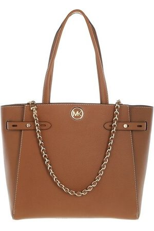 Michael Kors Tote Bags Large Belted Tote Leather - in cognac - Henkeltasche für Damen