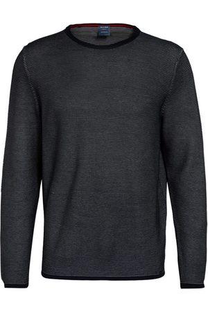 Olymp Herren Strickpullover - Pullover blau
