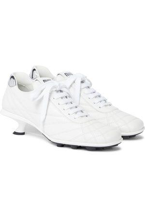 Miu Miu Damen Sneakers - Sneaker-Pumps aus Leder