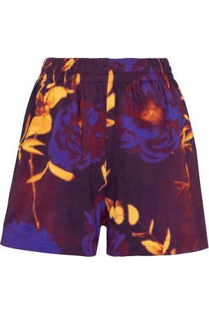 DRIES VAN NOTEN Bedruckte Shorts aus Baumwoll-Jersey